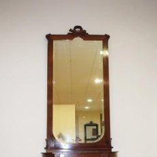 Antigüedades: CONSOLA ANTIGUA EN CAOBA ESTILO LUIS XVI. Lote 75324383