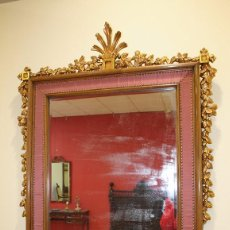 Antigüedades: ESPEJO ANTIGUO DE MADERA. Lote 75325447