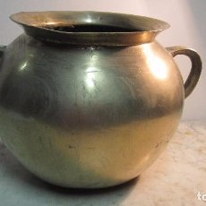 Antigüedades: CENTENARIA OLLA DE BRONCE. Lote 75410111