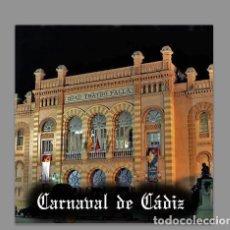 Antigüedades: AZULEJO 15X15 RECUERDO DEL CARNAVAL DE CÁDIZ. Lote 75471135