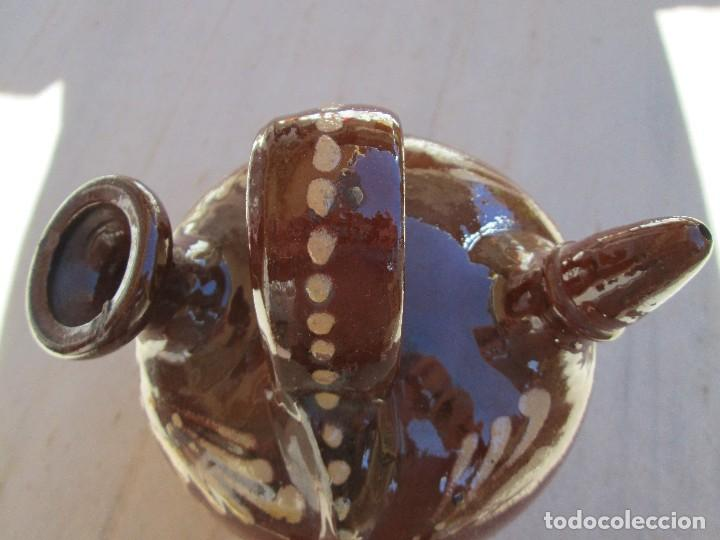 Antigüedades: botijo de barro decorado 20 centimetros de alto - Foto 2 - 75482223