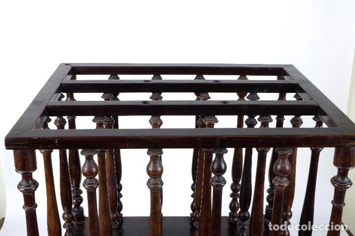 Antigüedades: Revistero en madera de palo santo macizo años 20 - Foto 4 - 75535711