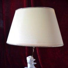 Antigüedades: LAMPARA CON FIGURA CUATRO ESTACIONES PORCELANA ALGORA. Lote 75538951