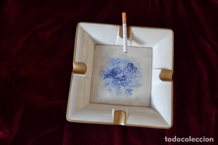 Antigüedades: cenicero porcelana algora - Foto 2 - 75539839
