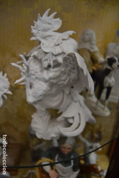 Antigüedades: gallos en biscuit de porcelana algora - Foto 2 - 75540715