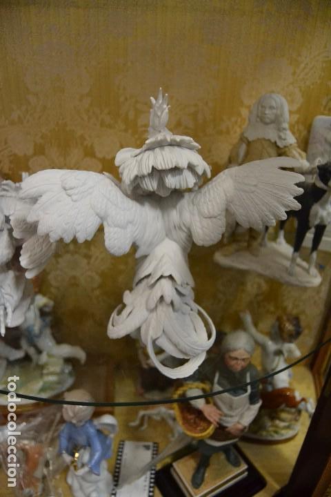 Antigüedades: gallos en biscuit de porcelana algora - Foto 6 - 75540715