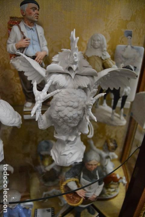 Antigüedades: gallos en biscuit de porcelana algora - Foto 7 - 75540715