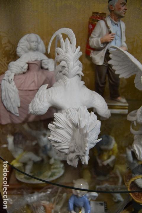Antigüedades: gallos en biscuit de porcelana algora - Foto 8 - 75540715