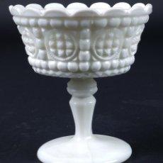 Antigüedades - Copa en opalina blanca primer tercio siglo XX - 75541279