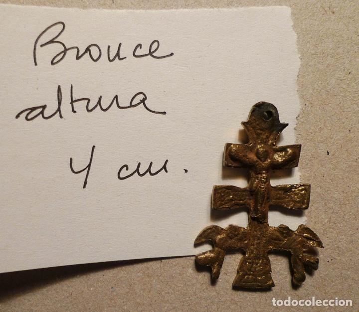 Antigüedades: ANTIGUA CRUZ DE CARAVACA DE BRONCE DE 4 cm. DE ALTURA. - Foto 2 - 75548170