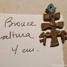 Antigüedades: ANTIGUA CRUZ DE CARAVACA DE BRONCE DE 4 CM. DE ALTURA. Lote 75548402