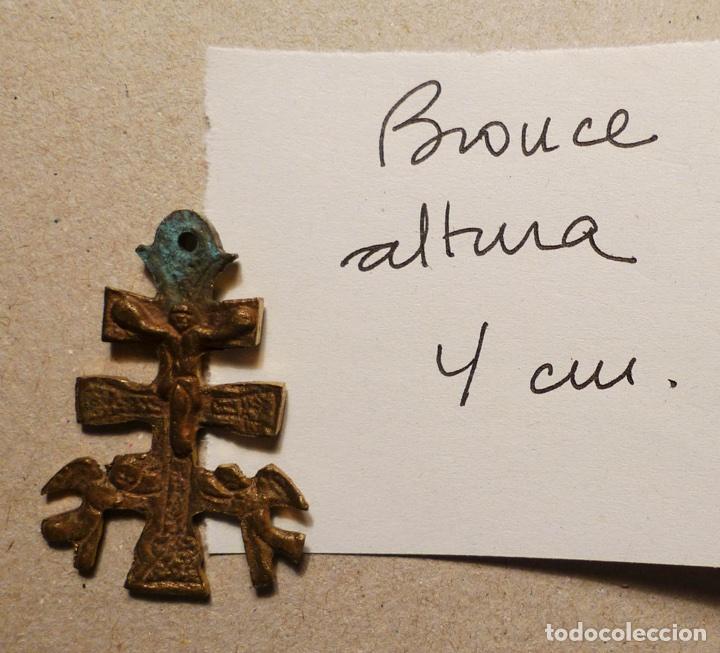 Antigüedades: ANTIGUA CRUZ DE CARAVACA DE BRONCE DE 4 cm. DE ALTURA - Foto 2 - 75548402