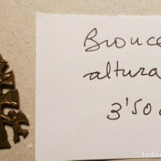 Antigüedades: ANTIGUA CRUZ DE CARAVACA DE BRONCE DE 3,50 CM. DE ALTURA. Lote 75548747