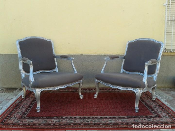 antigedades dos sillones plateados estilo luis xv silln antiguo estilo luis xv sillones