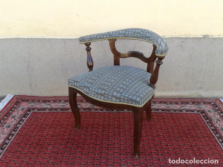 Antigüedades: Silla descalzadora antigua, sillón descalzador antiguo retro vintage - Foto 2 - 75553263