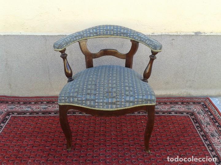 Antigüedades: Silla descalzadora antigua, sillón descalzador antiguo retro vintage - Foto 3 - 75553263
