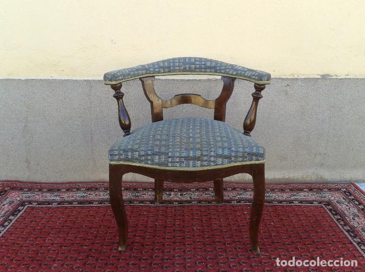 Antigüedades: Silla descalzadora antigua, sillón descalzador antiguo retro vintage - Foto 4 - 75553263