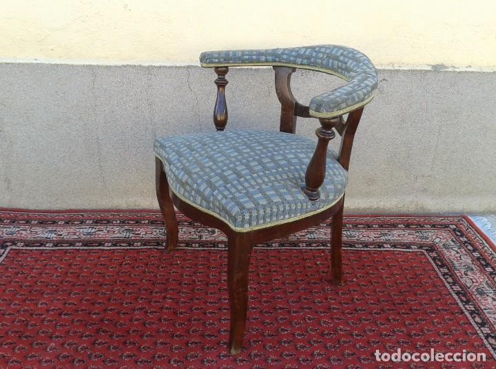Antigüedades: Silla descalzadora antigua, sillón descalzador antiguo retro vintage - Foto 5 - 75553263