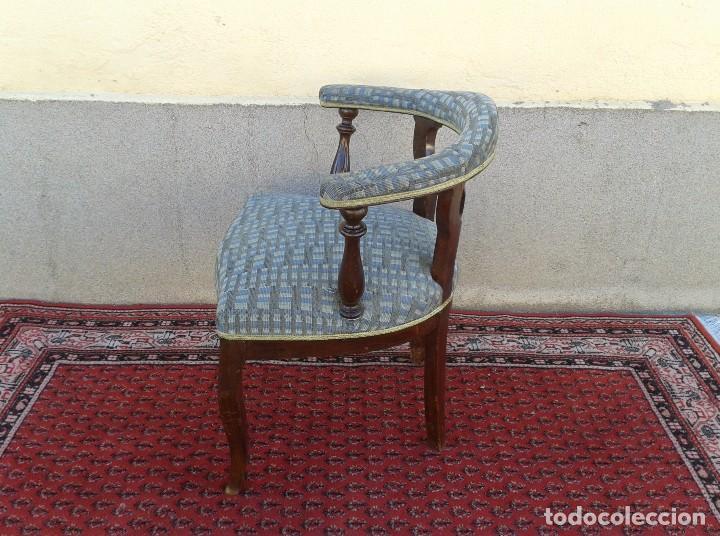 Antigüedades: Silla descalzadora antigua, sillón descalzador antiguo retro vintage - Foto 6 - 75553263