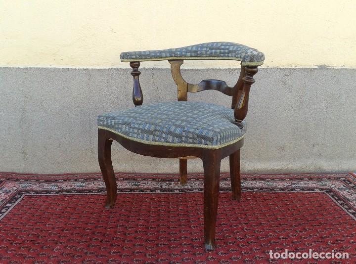 Antigüedades: Silla descalzadora antigua, sillón descalzador antiguo retro vintage - Foto 8 - 75553263