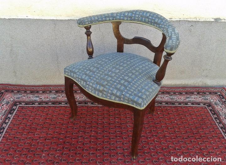 Antigüedades: Silla descalzadora antigua, sillón descalzador antiguo retro vintage - Foto 9 - 75553263