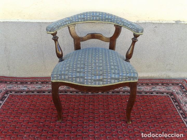 Antigüedades: Silla descalzadora antigua, sillón descalzador antiguo retro vintage - Foto 10 - 75553263