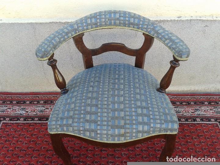 Antigüedades: Silla descalzadora antigua, sillón descalzador antiguo retro vintage - Foto 11 - 75553263