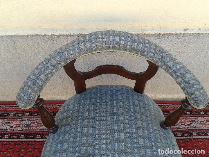 Antigüedades: Silla descalzadora antigua, sillón descalzador antiguo retro vintage - Foto 12 - 75553263