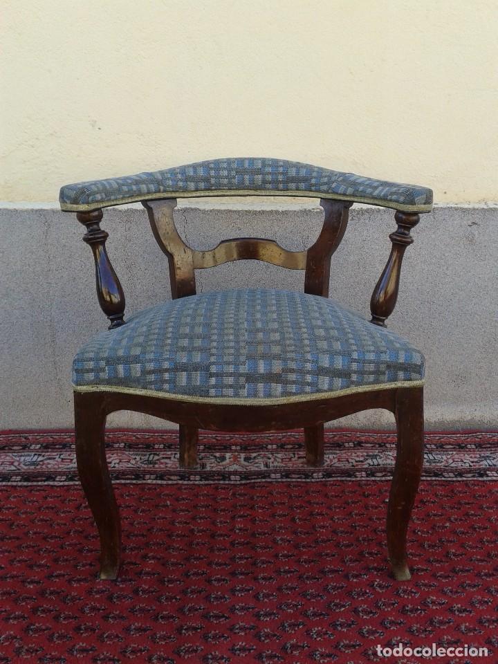 Antigüedades: Silla descalzadora antigua, sillón descalzador antiguo retro vintage - Foto 13 - 75553263