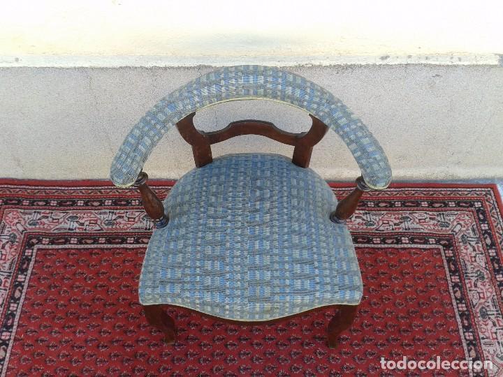 Antigüedades: Silla descalzadora antigua, sillón descalzador antiguo retro vintage - Foto 14 - 75553263