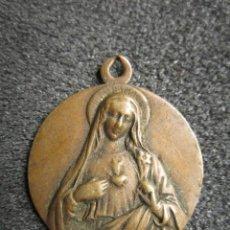 Antigüedades: ANTIGUA MEDALLA RELIGIOSA VIRGEN MARÍA. . Lote 75577867