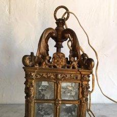 Antigüedades: FAROL DE BRONCE. Lote 75585607