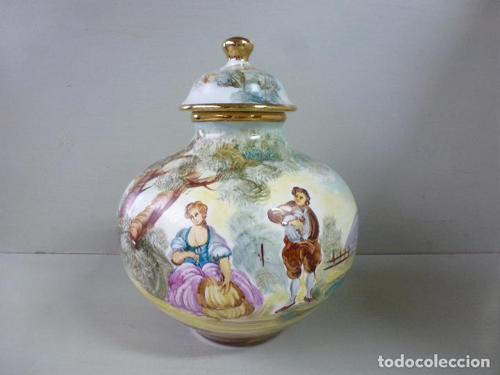 Antigüedades: jarron, tibor. ceramica española, pintada a mano C. Zara. RESERVADO - Foto 2 - 194363535
