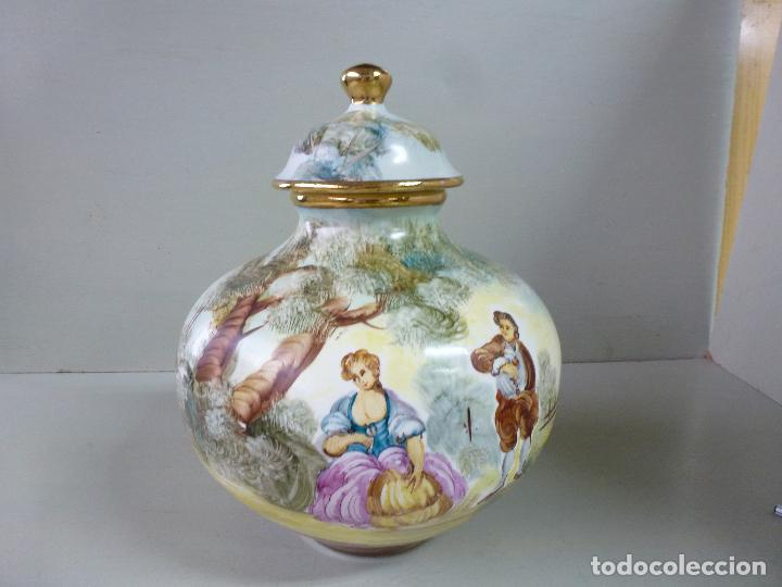 Antigüedades: jarron, tibor. ceramica española, pintada a mano C. Zara. RESERVADO - Foto 5 - 194363535