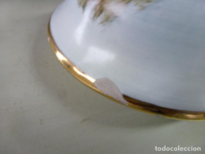 Antigüedades: jarron, tibor. ceramica española, pintada a mano C. Zara. RESERVADO - Foto 8 - 194363535