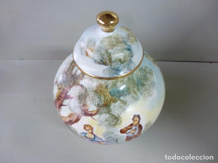 Antigüedades: jarron, tibor. ceramica española, pintada a mano C. Zara. RESERVADO - Foto 13 - 194363535