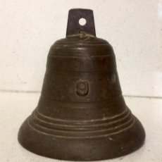 Antigüedades: CAMPANA DE BRONCE DE LA PRIMERA MITAD DEL SIGLO XIX. Lote 75603637