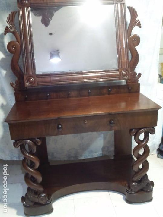 Antigüedades: Antiguo Tocador de Caoba - Foto 2 - 75622271