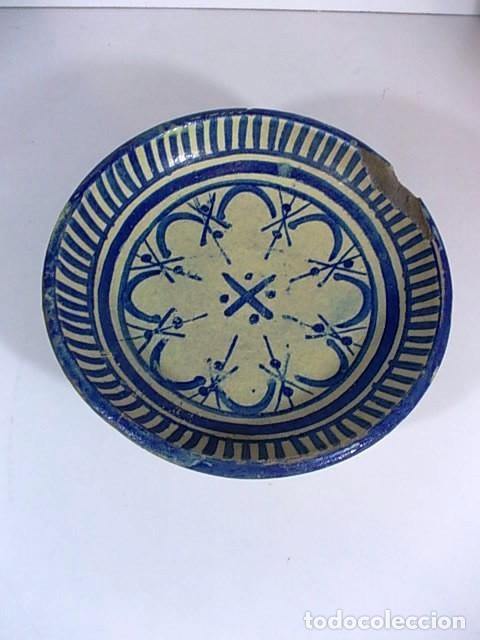 ANTIGUO FRUTERO O ESCUDILLA RIBESALBES (Antigüedades - Porcelanas y Cerámicas - Ribesalbes)