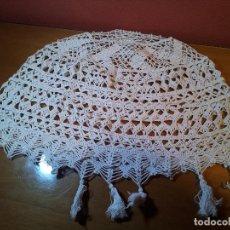 Antigüedades: ANTIGUO TAPETE - ENCAJE COBERTOR LAMPARA... Lote 75632699