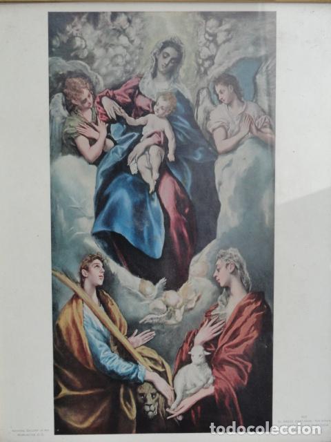 Antigüedades: BONITO MARCO CON LÁMINA RELIGIOSA. - Foto 2 - 75632807