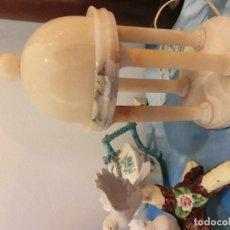 Antigüedades: INTERESANTE CUPULA Y LAMPARA DE ALABASTRO . Lote 75639083