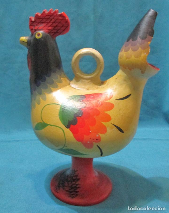 BOTIJO, GALLO, GALLINA, RECUERDO DE SALAMANCA (Antigüedades - Porcelanas y Cerámicas - Otras)
