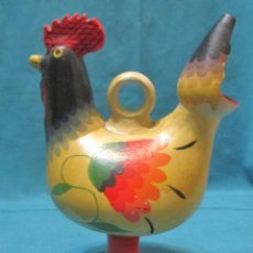 Antigüedades: BOTIJO, GALLO, GALLINA, RECUERDO DE SALAMANCA. Lote 75654423