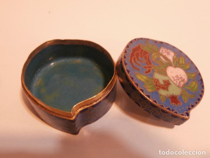 Antigüedades: Cajita china forma de corazon cloisonne - Foto 2 - 75658639