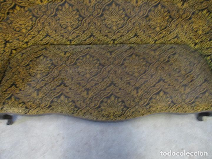 Antigüedades: Antiguo Tresillo - Sofá, Pareja Sillones, 6 Sillas -Silleria Isabelina -Madera - Laca Negra - S. XIX - Foto 7 - 75659023