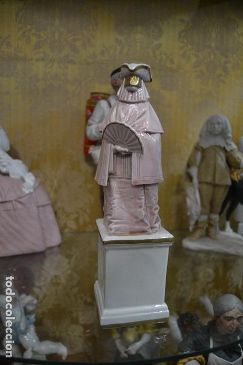 Antigüedades: figura carnaval porcelana algora - Foto 2 - 75668319