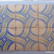 Antigüedades: SEIS AZULEJOS.VALENCIA.SIGLO XIX.REFª8. Lote 74878639