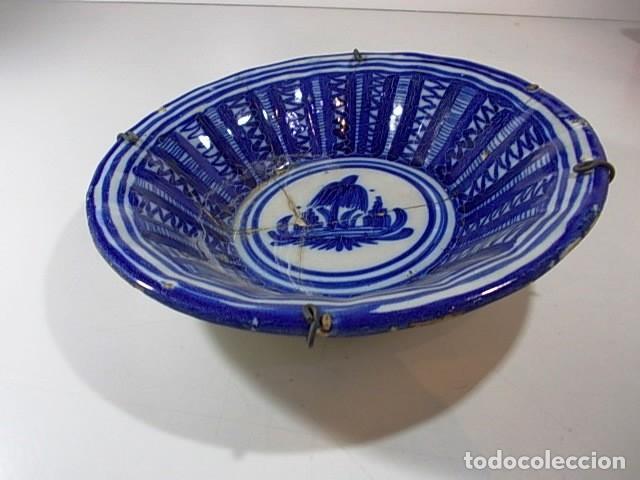 Antigüedades: ANTIGUO PLATO FIRMADO VAO DE ALCORA - Foto 2 - 75682751