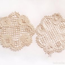 Antigüedades: 2 TAPETES ANTIGUOS DE ENCAJE DE BOLILLOS. Lote 75692039